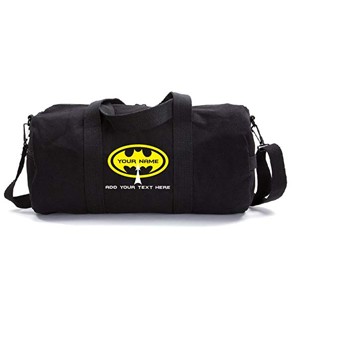 Grab A Smile Personalized Custom Batman Heavyweight Canvas Duffel Bag
