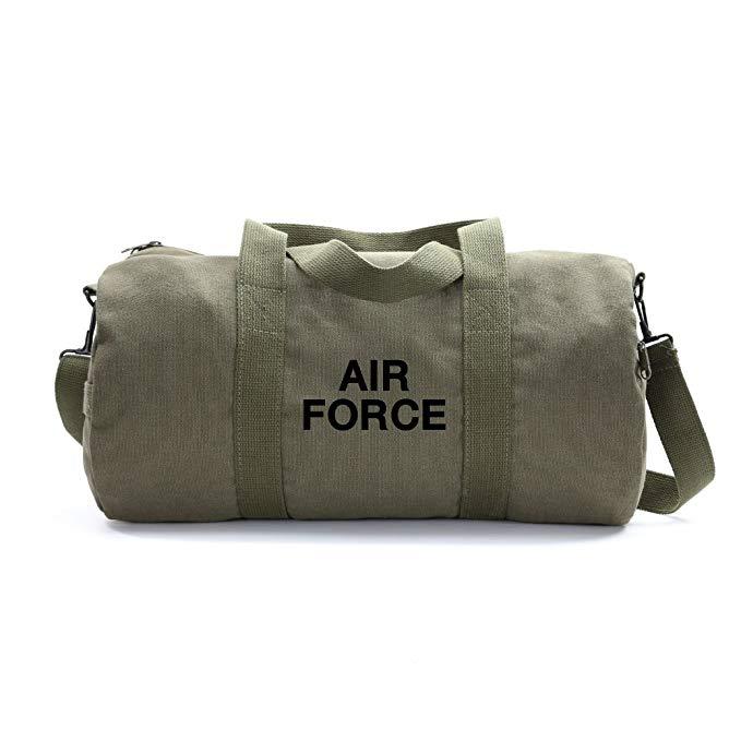 Air Force USAF Text Army Sport Heavyweight Canvas Duffel Bag