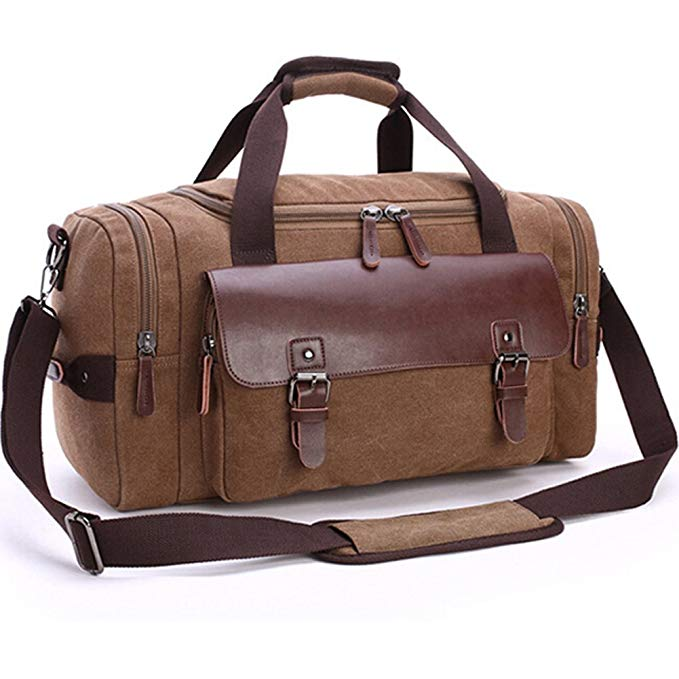 Duffle Multifunctional Duffel with Weekend Overlight Bags for Travel (coffee)