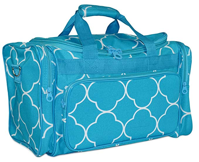 Ever Moda Moroccan Tile Duffle Bag (Medium)