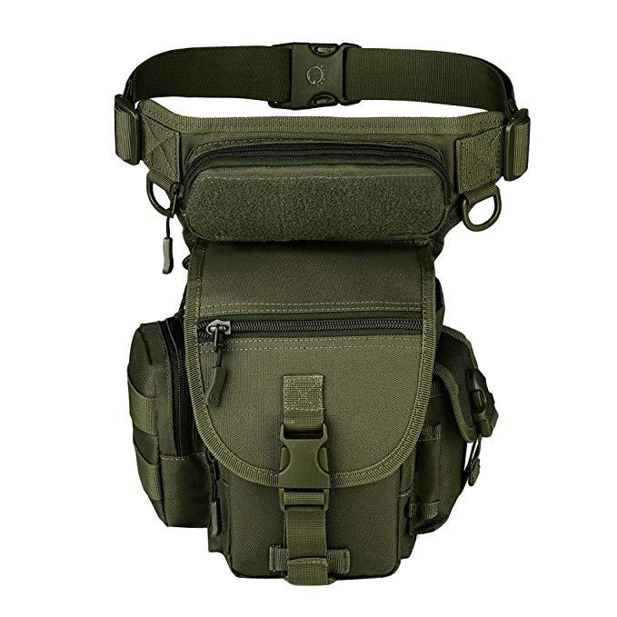MonkeyJack Men Drop Leg Bag Military Thigh Panel Utility Waist Belt Pouch Bags Bike Cycling Hip Bag