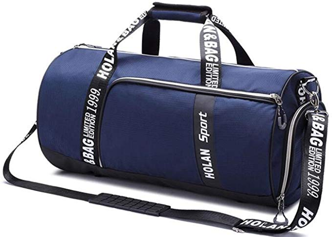 Aidonger Sports Duffel Bag Gym Bag Carry On Bag with Shoe Pouch