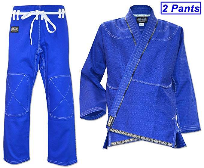 ULTIMA Brazilian Jiu Jitsu Gi with 2 Pairs of Pants - Blue