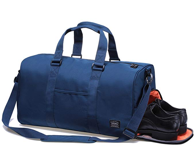 KAUKKO Sports Gym Bag With Shoes Compartment Lightweight Travel Duffel Bag