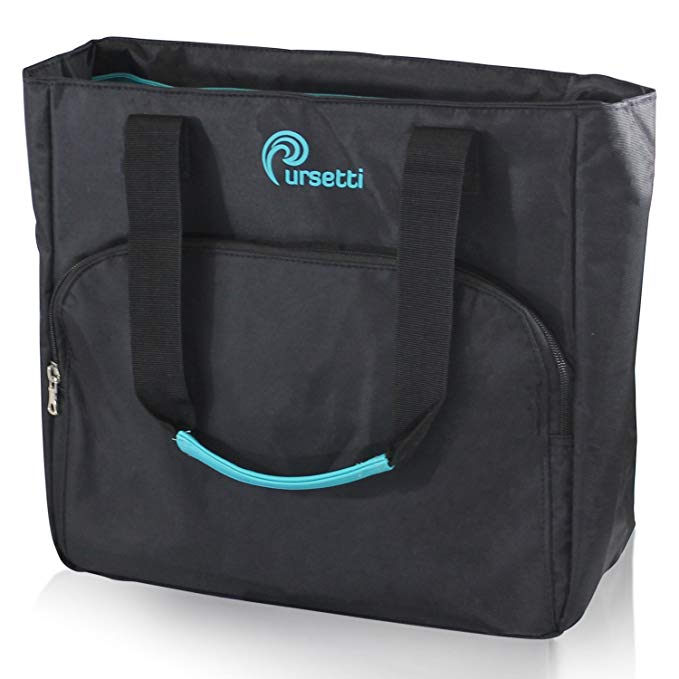 Pursetti Laptop Tote for Women in Premium Nylon - Perfect Tote Bag for Work, School, Travel or Gym