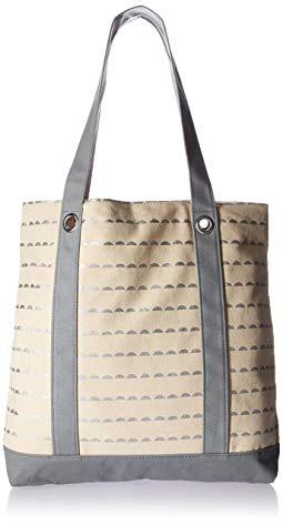 Kate Aspen Silver Scallop canvas Tote Bag