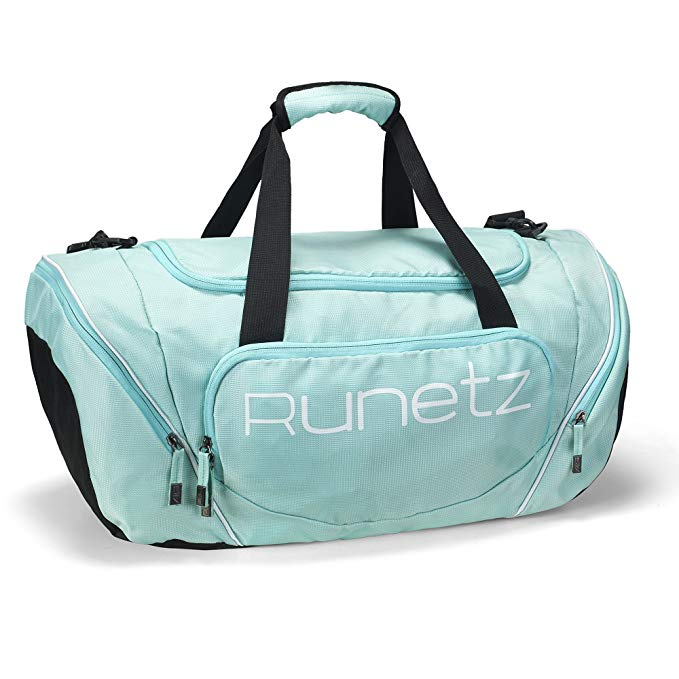 Runetz Gym Bag for Women and Men Duffle Bag with Wet Pocket, Travel Gym Bag with shoe compartment Duffel Bag - 20 inch Large - TEAL
