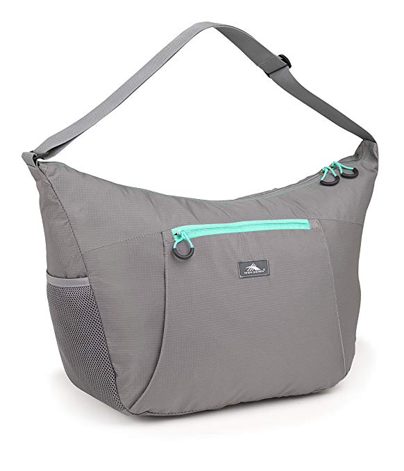 High Sierra Pack-N-Go 2 26L Yoga Duffel Bag, Ash/Aquamarine