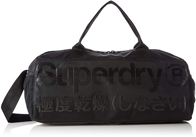 Superdry Men's Trackmaster Barrel Bag, Black