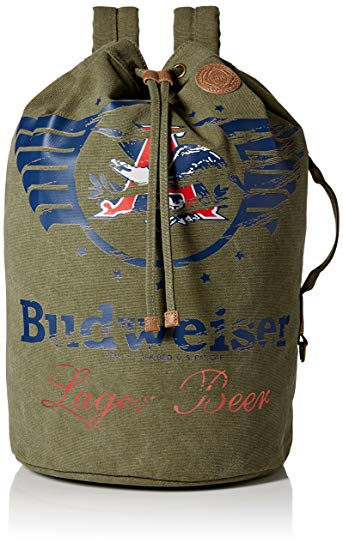 Budweiser by Buxton Men's Eagle Wings Drawstring Bucket Bag