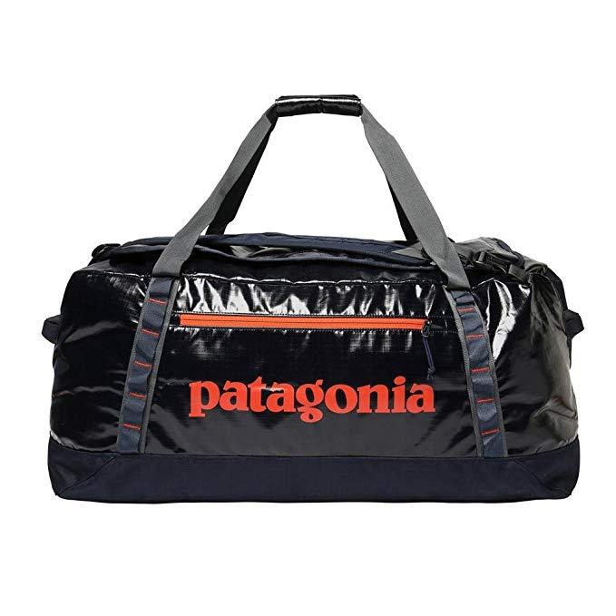 Patagonia Black Hole Duffel Travel Duffle, 45 cm, 90 liters, Blue (Navy W/Paintbrush Red)