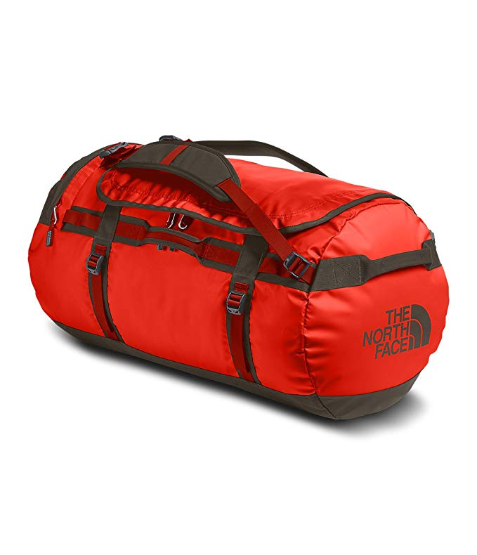 The North Face Base Camp Duffel (X-Large, Acrylic Orange/Falcon Brown)