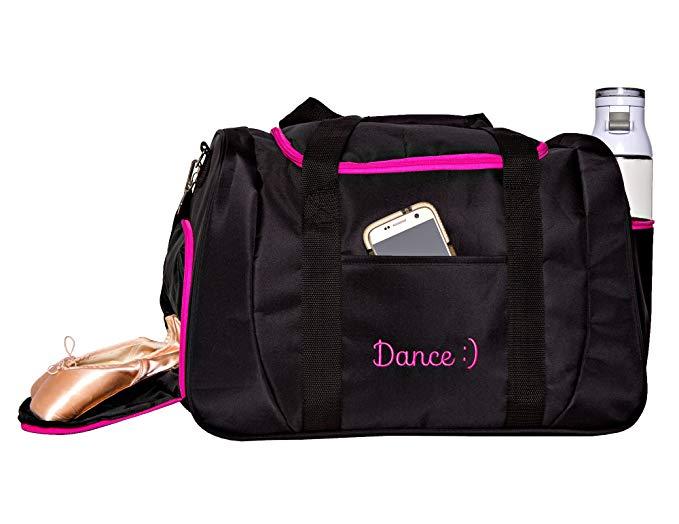 Horizon Dance 1064 Smiley Medium-Large Dance Duffel Bag with Shoe Compartment