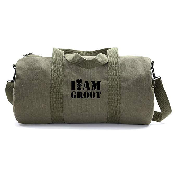 Grab A Smile I Am Groot Heavyweight Canvas Sport Travel Duffel Bag