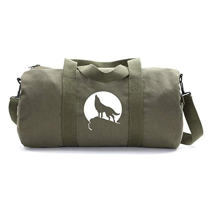 Howling Wolf Moon Heavyweight Canvas Duffel Bag