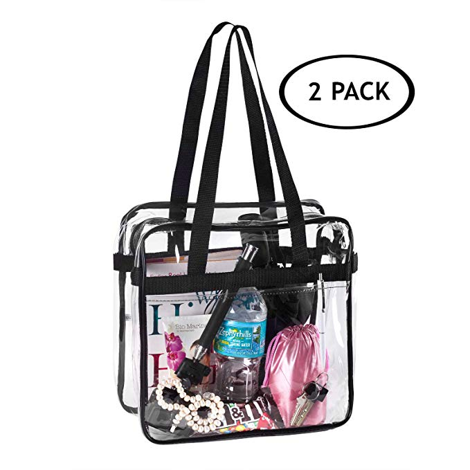 2 Clear NFL and PGA Stadium Approved Tote Bag, by Bags for Less - for, Security Travel, Sports, Outdoor Activities –12