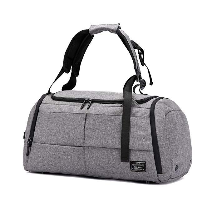 Gym Duffel Bag, Travel Luggage Bag with Shoes Compartment Canvas Waterproof Sports Tote Bag Anti-Theft Backpack for Men and Women af-tigonhw