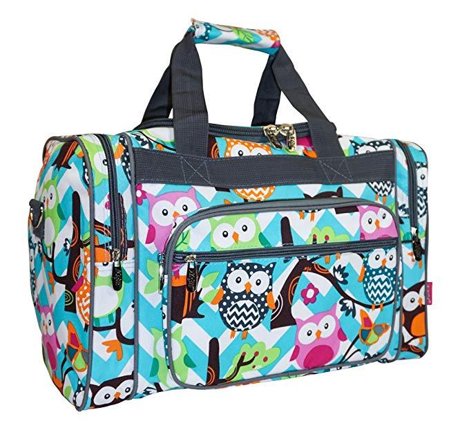 NGIL Owl Teal Blue Small Duffle Bag (Grey)