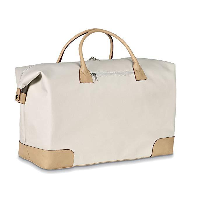 eBuyGB Large Weekend Travel Hand Luggage Bag Sport Duffel, Beige