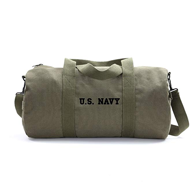 US NAVY Text Army Sport Heavyweight Canvas Duffel Bag