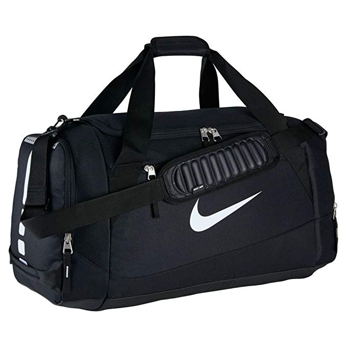 Nike Hoops Elite Team Black Duffel Gym Bag for Men and Women