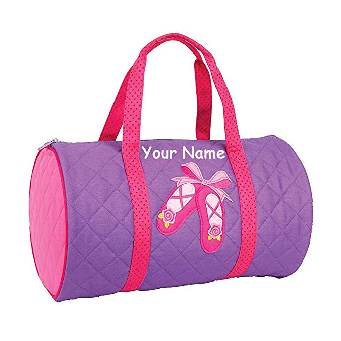 Personalized Stephen Joseph Quilted Ballet Dance Duffle Gym Bag