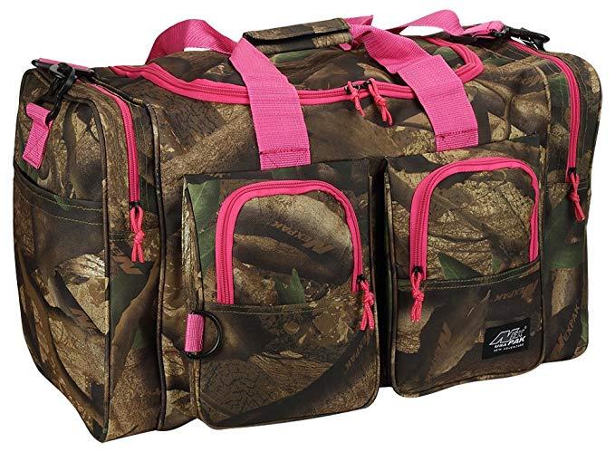 Womens Outdoor 26 Inch Duffel Gear Sport Gym Shoulder Bag + Key Ring Carabiner