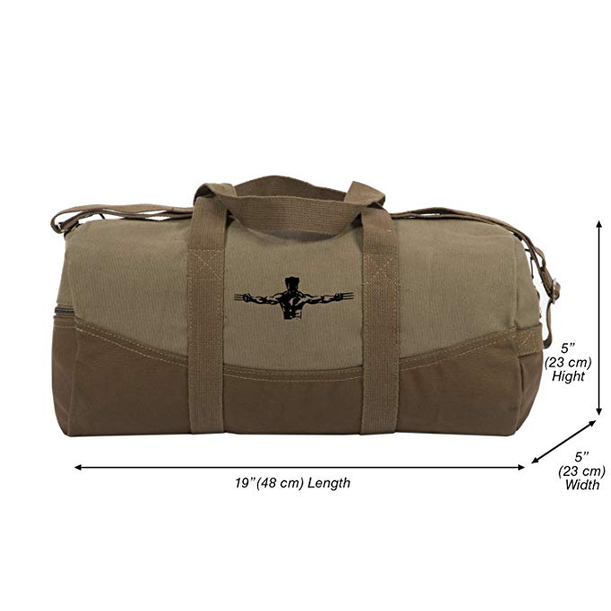 Wolverine Xmen Two Tone Brown 19� Canvas Duffel Bag with Detachable Strap