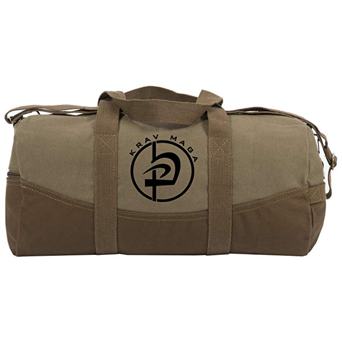 "Krav Maga and MMA Two Tone 19"" Duffle Bag with Brown Bottom and Detachable Strap"