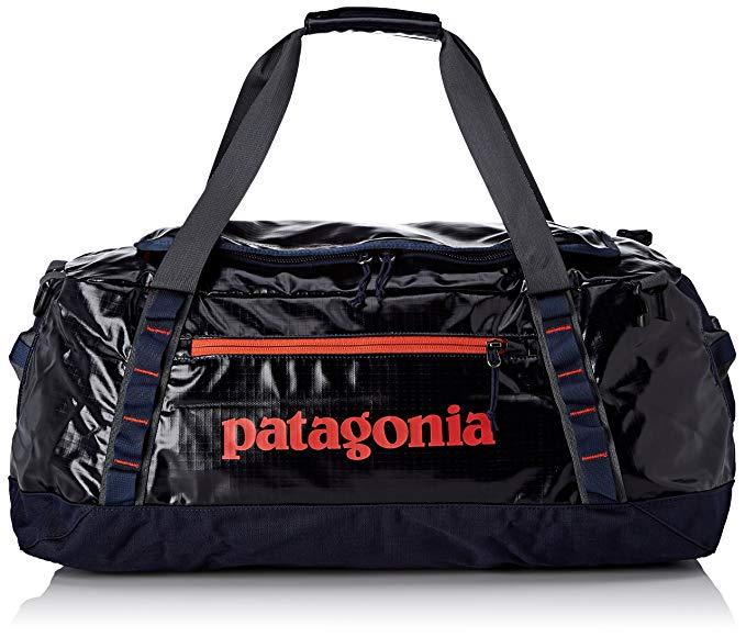 Patagonia Black Hole Duffel 60L (Navy Blue w/Paintbrush Red)