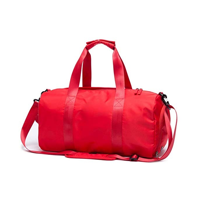 PinPle Sport Gym Bag Travel Duffel Bag with Shoe Compartment and Dry Wet Separation Layer for Men & Women (Fashion Red)