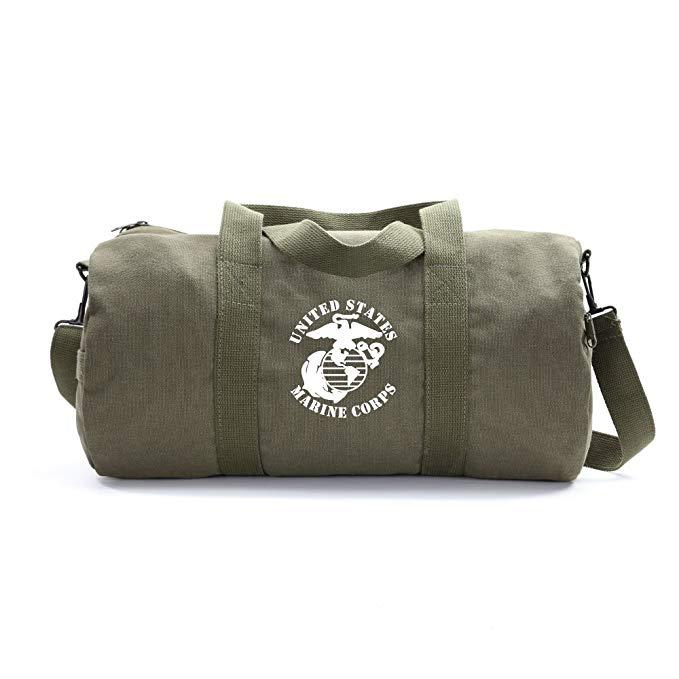 United States Marine Corps Army Sport Heavyweight Canvas Duffel Bag