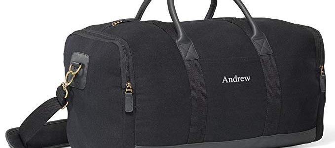 Personalized Black Canvas Duffle Bag – Embroidered Canvas Gym Bag Review