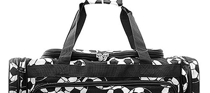 Soccer Print 23″ Overnight Duffel Bag with Shoulder Strap Review
