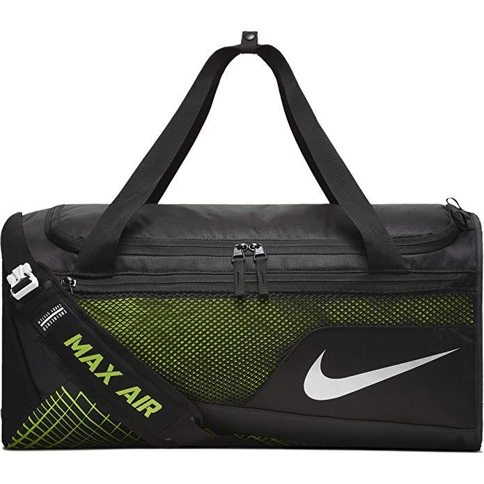 Nike Mens Vapor Max Air Medium Training Duffel Bag BA5475-010 - Black/Volt