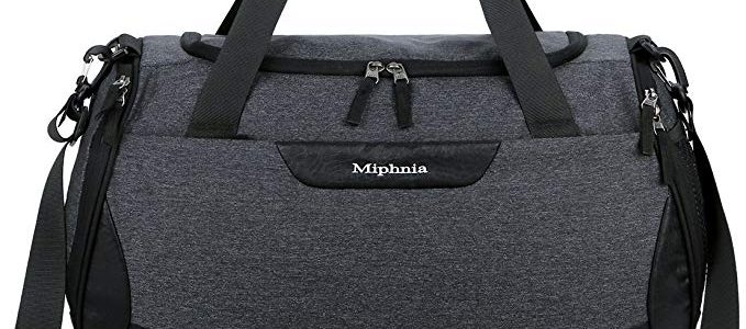 Miphnia Sports Gym Bag 20″ Travel Duffel Bag with Shoes Compartment for Women and Men Review