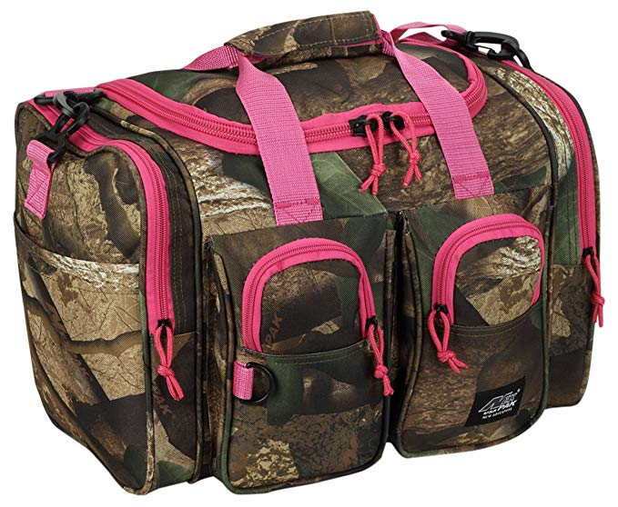 Womens Small 15 Inch Pink Hunters Camo Duffel Duffle Outdoor Sport Gym Shoulder Bag + FREE ITEM