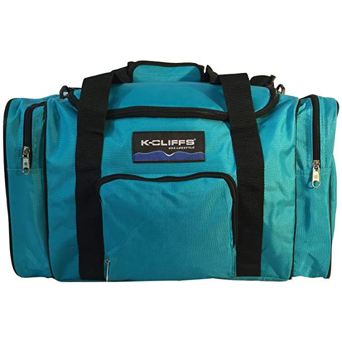 Sports Duffel Bag Gym Bag Medium Travel Bag Fitness Sport Equipment Gear Bag with Side Pockets