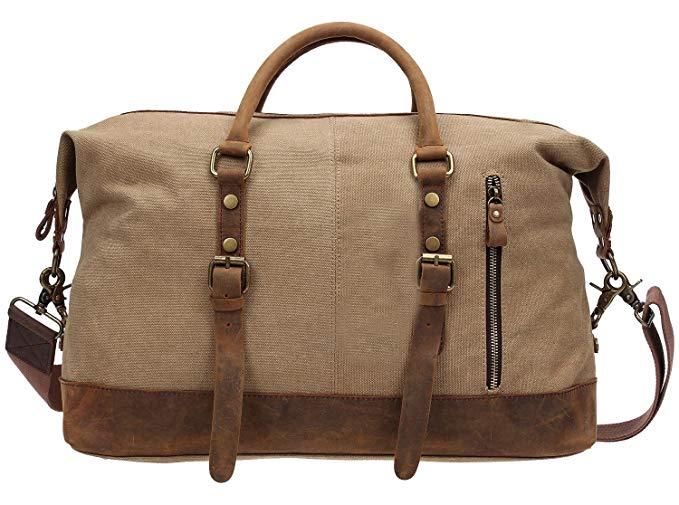 Luggage, Berchirly Canvas Duffle Bag Weekend Travel Luggage Sports Duffel Bags Unisex
