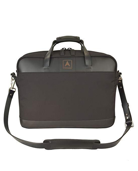 Arrow Canvas Leather Tote Bag