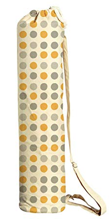 Poka Dot Pattern Printed Canvas Yoga Mat Bags Carriers WAS_41