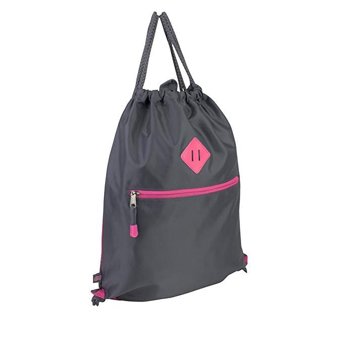 Eastsport Everyday Value Cinch-able Drawstring Sling with Front Easy Access Zip Pocket