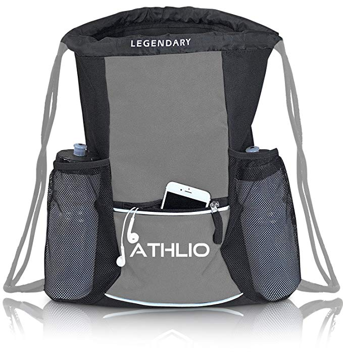 Legendary Drawstring Gym Bag - Waterproof | For Sports & Workout Gear | XL Capacity | Heavy-Duty Sackpack Backpack