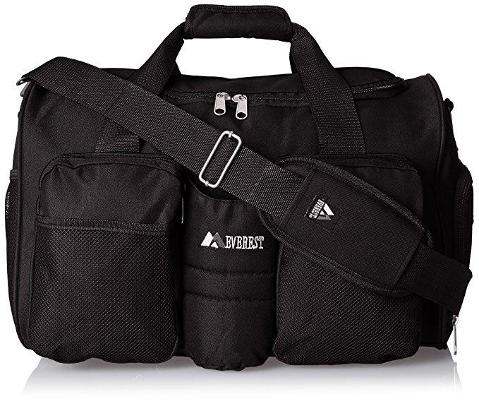 Everest Gym Bag with Wet Pocket, Black, One Size